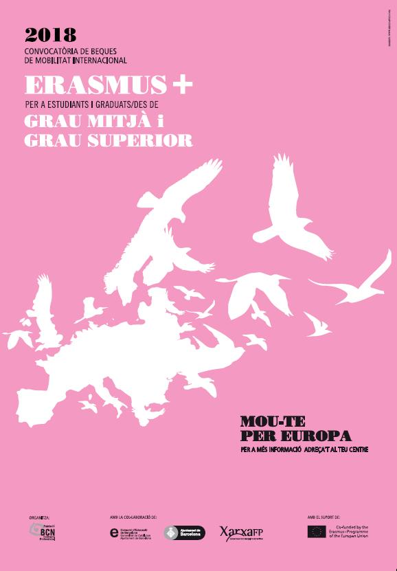 Cartell Erasmus+ Formació Professional 2018